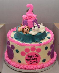 2nd birthday puppy/dog theme birthday cake
