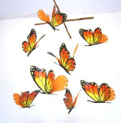 Your place to buy and sell all things handmade Bird Mobile, Butterfly Mobile, Hanging Mobile, Baby Crib Mobile, Butterfly Painting, More Pictures, Nursery Art, Fascinator, Cribs