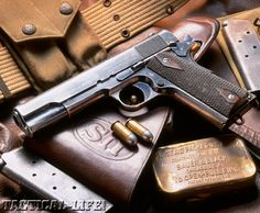 With a century of unparalleled service, Browning& pistol is now starting on its next 100 years as the preferred ACP, even today, for American GIs. M1911 Pistol, Revolvers, Colt Single Action Army, Tactical Life, Colt 1911, 45 Acp, Cool Guns, Guns And Ammo, Self Defense