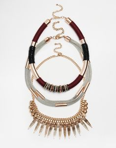 Image 1 ofNew Look Premium Wrapped Necklace Multipack