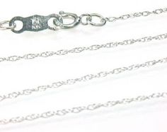 Chain necklace 10KT white gold