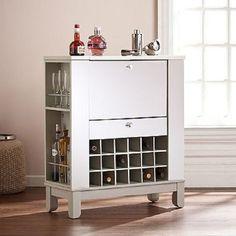 Liquor Storage Cabinet Home Bar Furniture Space Saving Wine Cube Racks Mirrored  #Illusion