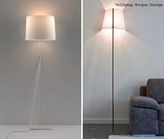 Leaning floor lamps, a take on the typical floor lamp. Familiar design looks simpler and modern with this added twist