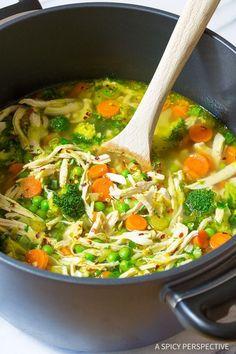 Healthy Chicken Detox Soup Recipe & Cleanse   ASpicyPerspective... (Paleo, Gluten Free, Dairy Free)