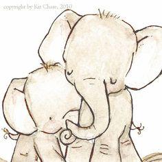 elephant nursery art sweet-girl