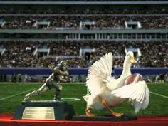 Aflac Heisman Commercial with Fumble