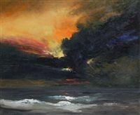 Marine au coucher de soleil by Paul Permeke