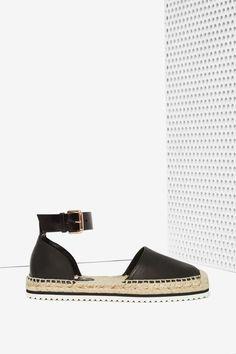 Miista Cassandra Leather Espadrille Shoe