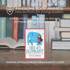 The latest #awesomebookawards Q&A with @sylvialining author of Erica's Elephant is now online 🐘www.awesomebookawards.com/5-questions-for-sylvia-bishop #cranleigh #cranleighschool #cranleighprep #surrey #awesomebookawards2018 #bookawards #authorawards #sylviabishop #ericaselephant #reading #aba2018