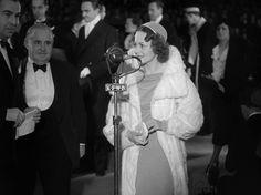 Olivia de Havilland at the Hollywood premiere of A Midsummer Night's Dream, October, 1935.