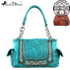 Turquoise Concho Concealed Carry Handbag