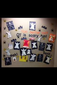 Have clients craft decor for the office, and then get them to help place it around the building. Fall Crafts, Halloween Crafts, Crafts For Kids, Occupational Therapy Schools, School Ot, Pediatric Ot, Halloween Door Decorations, Good Day Song, Holiday Activities