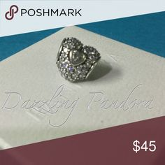 Pandora In My Heart Authentic and in Excellent condition. Hard box sold separately $3 Pandora Jewelry Bracelets