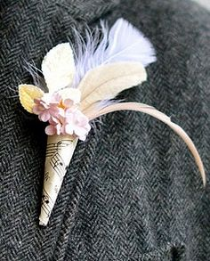 Sheet Music Boutonniere (no flowers) Budget Wedding, Wedding Blog, Fall Wedding, Wedding Ideas, Alternative Wedding Inspiration, Wedding Bouquets, Wedding Flowers, Shabby Chic Accessories, Groom Boutonniere