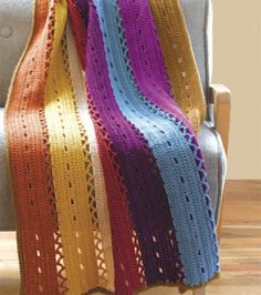 Eyelet Strip AfghanEyelet Strip Afghan