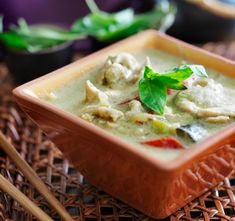 Green Curry is the most popular of all Thai dishes, and this Thai Green Curry Chicken recipe is simple to make, yet tastes like it came from your favorite Thai restaurant. Unlike most green curry recipes, this one doesn't call for packaged curry paste - instead, everything is made fresh, resulting in the best possible taste and greatest health benefits. Just follow these easy directions to a great Thai green curry you'll want to make again and again!