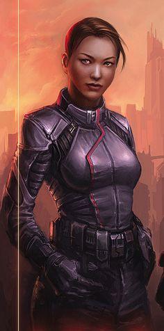 Fragments of a Hologram Dystopia — Dark skinned ladies of cyberpunk / sci-fi part 2 Sci Fi Rpg, Sci Fi Armor, Female Armor, Female Pilot, Female Cyborg, Star Wars Characters, Female Characters, Best Sci Fi, Star Wars Rpg