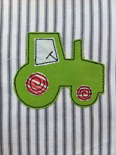 ITH Tractor Raggy Applique DIGITAL Embroidery by BackYardStitchin