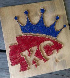 KC Pride String Art by WoodStringsWhimsical on Etsy