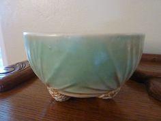 RARE Vintage McCoy Jardiniere Rustic Pine Cone Bowl Planter Art Pottery | eBay