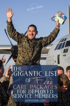 Gigantic List of Free Military Care Packages for Service Members Saving this list of care packages for deployed service members Soldier Care Packages, Deployment Care Packages, Military Care Packages, Soldier Care Package Ideas, Deployment Party, Military Deployment, Deployment Countdown, Military Girlfriend, Military Spouse