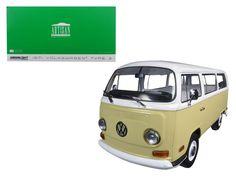 1971 Volkswagen Type 2 Bus (T2B) Yellow 1/18 Diecast Model Car by Greenlight
