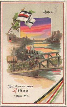 Bestzung von Libau. 7.Mai 1915. postcard.