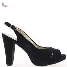0fdf8d565390 Escarpins femme grande taille bordeaux à talon de 12cm et plateforme - 42 -  Chaussures chaussmoi ( Partner-Link)