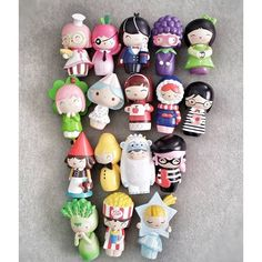 A huddle of Momiji Dolls by @modamlaa on Instagram. #momiji #momijidolls #collection #momijicollection #kawaii Momiji Doll, Wooden Pegs, Designer Toys, Sculpture Clay, Doll Crafts, Stop Motion, 3d Design, Biscuit, Creations