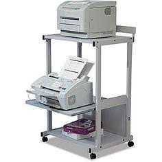 Balt ® Double Printer Stands Metal, Gray