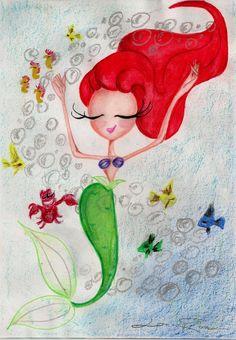 Ariel And Sebatian - Chibby by Louise-Rosa.deviantart.com
