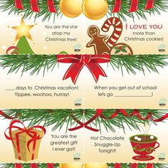 Spread a little holiday cheer with our printable Christmas Lunchbox Notes.