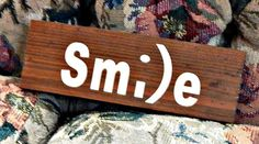 rustic smile sign barn wood homemade by PalletiumWoodworks on Etsy