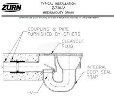 Zurn Medium-Duty Top Drain w/ Integral Double Wall Trap, Side – MasterBuilder Mercantile Inc. Floor Drains, It Cast, Bronze, Medium, Wall, Top, Walls, Crop Shirt, Shirts