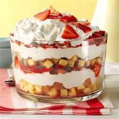 Need trifle recipes? Get great tasting desserts with trifle recipes. Taste of Home has lots of delicious recipes for trifles including chocolate trifles, strawberry trifles, and more trifle recipes and ideas. Strawberry Cheesecake Trifle Recipe, Best Trifle Recipe, Pound Cake Trifle, Strawberry Desserts, Cheesecake Recipes, Strawberry Juice, Oreo Cheesecake, Trifle Dish, Trifle Desserts