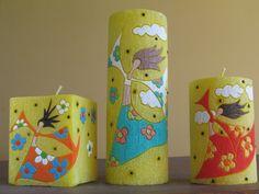 Cire parfumée bougie décor coloré maison artisanat par GiftForFire