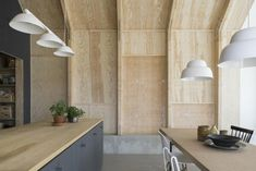 Image result for plywood clad walls kitchen