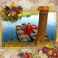 Autumn walk by the river by Giny