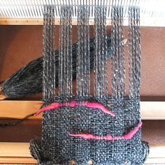I can put the progress pics on the blog now that Sheena has received her scarf from Sarah!  The warp tied and spaced.  Beginning the weave w...