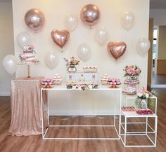 45 best ideas for party deko geburtstag fotos Simple Birthday Decorations, Birthday Party Decorations, Baby Shower Decorations, 18th Birthday Party, Baby Birthday, Birthday Table, Gold Party, Birthday Balloons, Birthday Backdrop