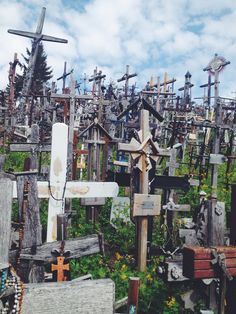 Hill of Crosses in the country of Lithuania. Impressive sight!