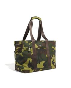 """Cordura Camo Zipper-ToteSimilar to our Classic Boat Canvas carrier, this tote is made from water resistant Nylon and features both an inner and outer pocket. The only bag you will need to carry. Small 12"""" l x 6"""" w x 8.5"""" h. up to 12 lbs.  Large 15"""" l x 8"""" w x 11"""" h. up to 15 lbs. X-large 17"""" l x 8"""" w x 15"""" up to 25"""