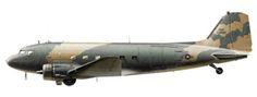 Douglas AC-47 D Gunship, 4º Escuadrón de Comando Aéreo, Base Stewart, N.Y., 1965.