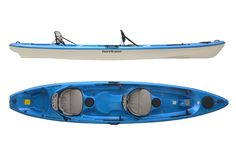 The Hurricane Skimmer 140 T is a lightweight alternative to the heavy two-person polyethylene sit-on-tops on the market. This kayak has a tandem SOT deck on a proven lightweight hull design.