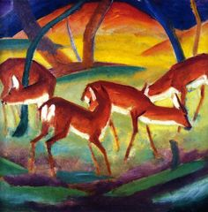"""Franz Marc, """"Red Deer"""" (1911)"""