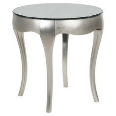 Inspiration: silver side table