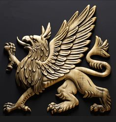 chimère Mythological Creatures, Mythical Creatures, Animal Sculptures, Sculpture Art, Griffin Tattoo, Foam Carving, Lion Sketch, Sphinx, 3d Cnc