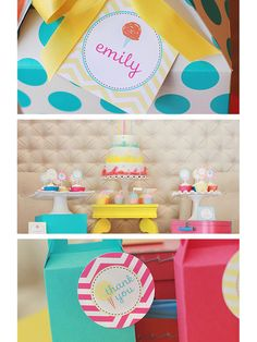 Cotton Candy Personalized Party Theme by The TomKat Studio on Gilt.com