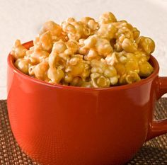 Soft Carmel Popcorn for a snow day.