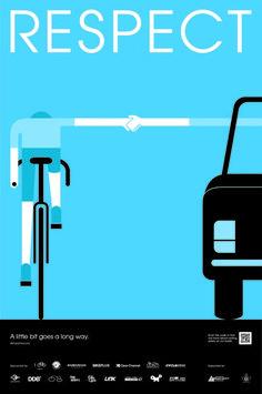 Publicidad Seguridad Vial. Respeto al ciclista.